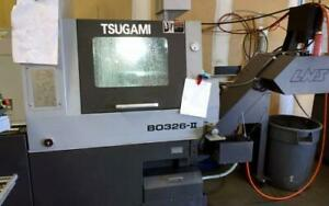Used Tsugami B0326 ii Cnc Swiss Lathe 2013 1 25 Bar Live Tool Sub Spindle