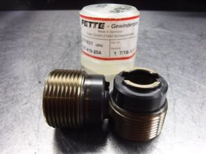 Lmt Fette Thread Rolling Roller Head 1 7 16 12 Un Dies Set 2171831 loc429