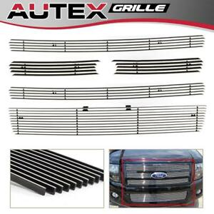 Fit 2007 2014 Ford Expedition Chrome Billet Grille Grill Combo Insert Aluminum