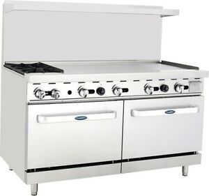 New Heavy Duty Commercial Range 2 Burner 48 Griddle 2 Ovens Free Lift Gate
