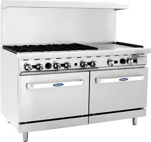 New Heavy Duty Commercial Range 6 Burner 24 Griddle 2 Ovens Free Lift Gate