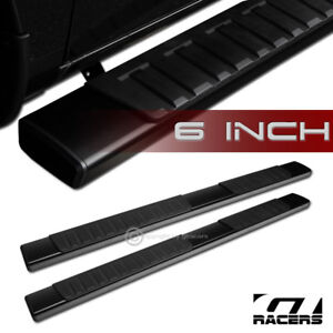 6 Oe Aluminum Blk Side Step Running Boards For 2005 2018 Tacoma Double Crew Cab