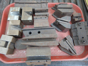 Pile Of Steel Work Holding Jigs Fixtures From A Grinding Shop Machinist Tooling