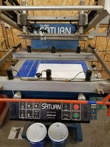 M r Saturn 1526 Screen Printer Printing Machine Flatbed Graphic Press