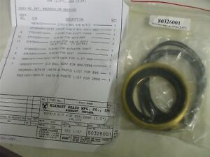 80326001 Elkhart Repair Kit 2 5 2896 896 Brass Drop Out Ball Valve Fire Truck