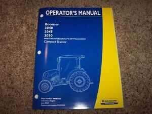 Nh New Holland Boomer 3040 3045 3050 Tractor Owner Operator User Guide Manual