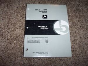 John Deere 330lc 370 Excavator Technical Repair Service Shop Manual Tm1670