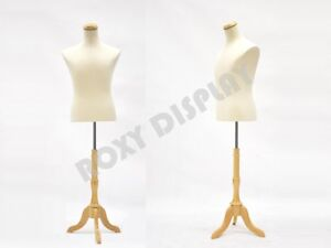Male Mannequin Shirt Form With White Linen Dress Body Form jf 33m01l bs 01nx