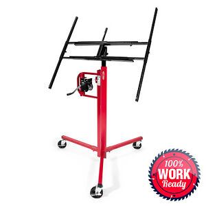 Drywall Lift Panel Jack Hoist 11 Reach Red