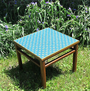 Mid Century Modern Grand Rapids Walnut Brass End Table Stand Funky Duct Tape