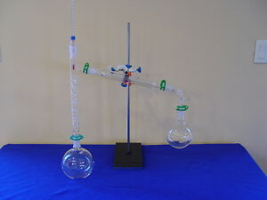 1000ml 24 40 Fractional Distillation Kit With Stand 300mm Vigreux