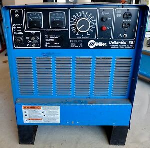 Miller Deltaweld 651 Welding Power Source Mig Welder 650amp 903022 Phase3