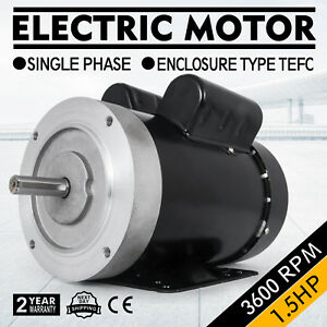 Electric Motor 1 5hp 56c 1 Phase Tefc 115 230v 3600rpm Shdc General 2 Pole