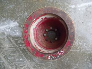Farmall Mta 400 450 560 706 Tractor Original Big Ih Paper Belt Pulley Real Nice
