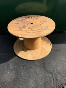Wood Cable Reel Spool Wooden Table