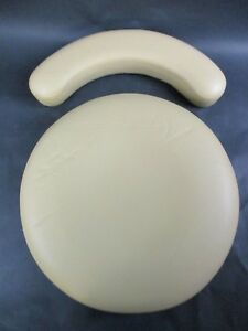 New Unused Yellow Ultraleather Adec Upholstery For Dental 1622 Assistant Stool