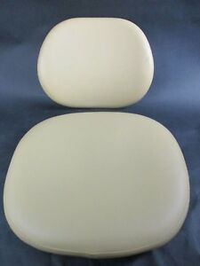 New Unused Ultraleather Yellow Adec Upholstery For Dental 1601 Stool