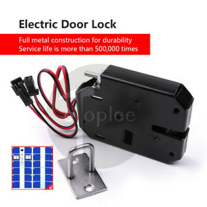 Magnetic Latch Door Lock Electric Drop Bolt Picks Auto Dc Solenoid Induction