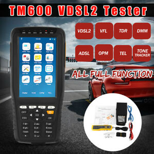 Tm 600 All in one Vdsl Vdsl2 Tester Tdr adsl vdsl opm Vfl Function Tone Tracker