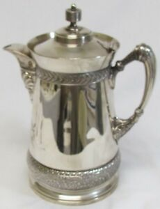 Genuine Circa 1887 Victorian Silver Plate Water Kettle By Meriden Silver Co