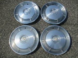 Genuine 1966 Cadillac Coupe Deville Fleetwood Hubcaps Wheel Covers Set