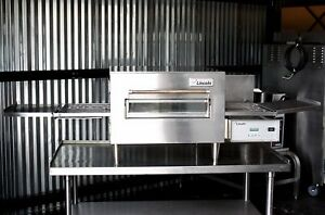 Lincoln Impinger 1132 Commercial Electric Pizza Oven Conveyor On Stand