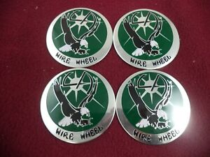 La Wire Wheels Chrome Green Custom Wheel Decal 4
