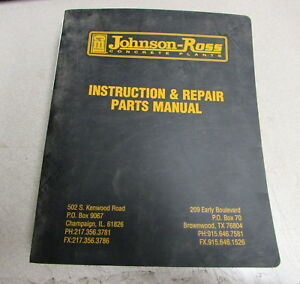 Cmi Johnson ross Concrete Plants Instruction Repair Parts Manual