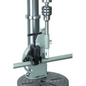 Pipe Tubing Notcher Electric Drill Press Round Cuts 60 Degrees Holder Adjust