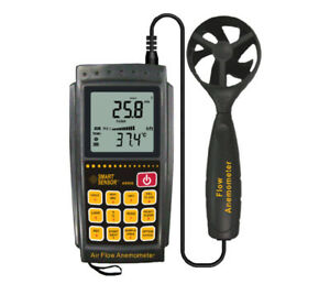 Smart Sensor Air Flow Anemometer Infrared Temperature Meter Usb Software Ar856