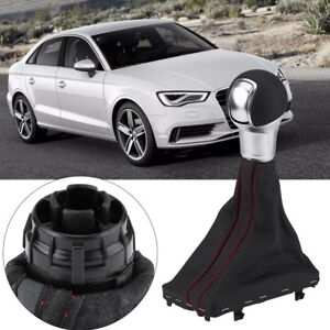 Gear Shift Stick Knob Gaiter Boot Cover For Audi A3 Dsg S tronic Transmission Eb