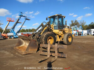 2001 Caterpillar It28g Wheel Loader A c Cab Hyd Q c Bucket Forks 3rd Valve Aux