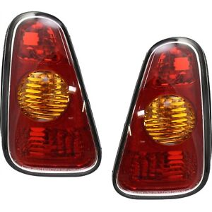 Taillights Taillamps Rear Brake Lights Pair Set For 02 07 Mini Cooper