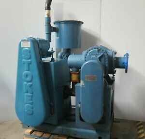 Stokes Model 412h 11 Microvac Pump 1722 Vacuum System Roots Booster 300 Cfm