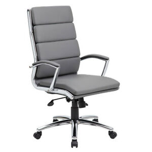 Lot Of 12 Segmented Grey Conference Table Office Chairs With Padded Arms