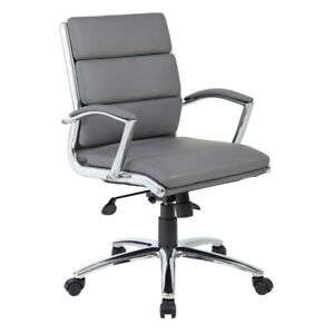 Lot Of 10 Low Back Grey Conference Table Office Chairs With Padded Arms