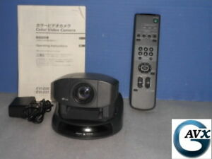 Sony Evi d30 Camera 30day Warranty Pan tilt zoom With Remote Power Supply