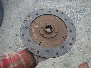 Farmall H Hv W4 I4 Ih Tractor 10 O d 10 Spline Woven Clutch Disc Real Good Ihc