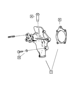 Genuine Mopar Water Pump Package 68382492aa