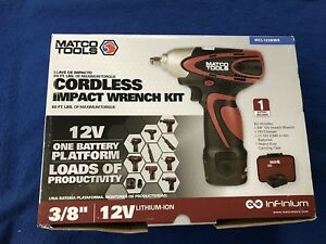 Mac Tools 3 8 Drive 12v Lithium Ion Cordless Impact Wrench Mcl1238iwk