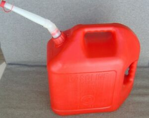Vintage Blitz 5 Gallon Red Plastic Gas Can Spout Screen Usa Made Free Shipping