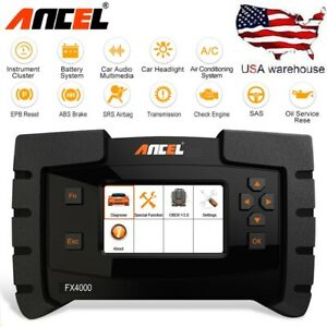 Ancel Obd2 Auto Diagnostic Scanner Tool Engine Abs Airbag Srs Epb Oil Reset Scan