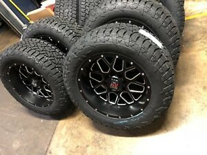 20x10 Xd820 Grenade Black Wheels Fuel 33 Tires Package 6x5 5 Fits Chevy Gmc