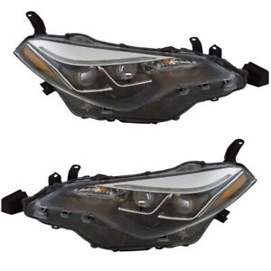 Headlight Lamp Assembly Lh Rh Kit Pair Set Of 2 For Toyota Corolla New