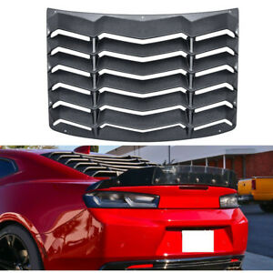 Abs Rear Window Louver Sun Shade Cover Hood Scoop Vent Hardware For Chevy Camaro
