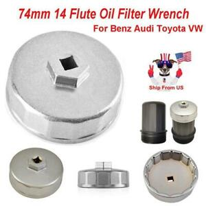 74mm 14 Flute Oil Filter Cap Wrench Socket Removal Tool For Benz Audi Toyota Vw