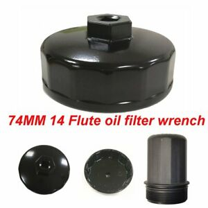 For Benz Audi Toyota Vw 74mm Black Oil Filter Cap Wrench Socket Remover Tool
