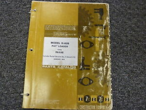 International Hough Ih H80b Articulated Wheel Pay Loader Parts Catalog Manual