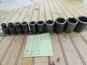 Snap on 1 2 Drive Shallow Socket Set 10pc Im 120a To 320 3 8 To 1