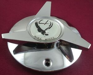 La Wire Wheels Chrome Custom Wheel Center Cap 1